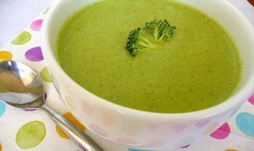 Суп-пюре из брокколи очень вкусный диетический рецепт