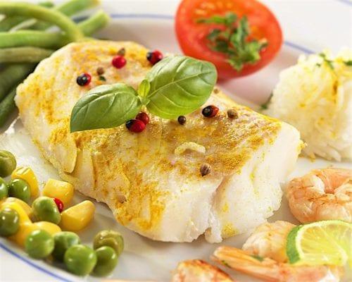 Нежирная рыба, морепродукты