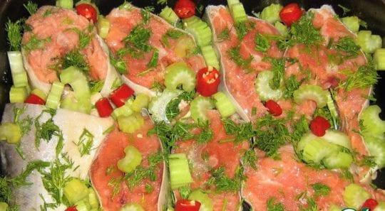 рыба с сельдереем в духовке