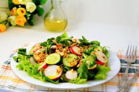 салат с горчичным маслом