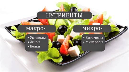 нутриенты пищи