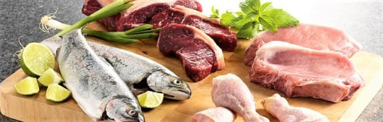Мясо, рыба и морепродукты