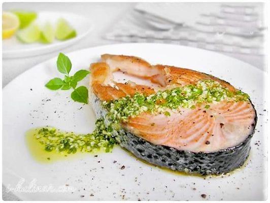 рыбный стейк, кефир