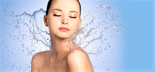 вода на теле