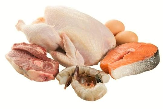 нежирное мясо, рыба, молоко