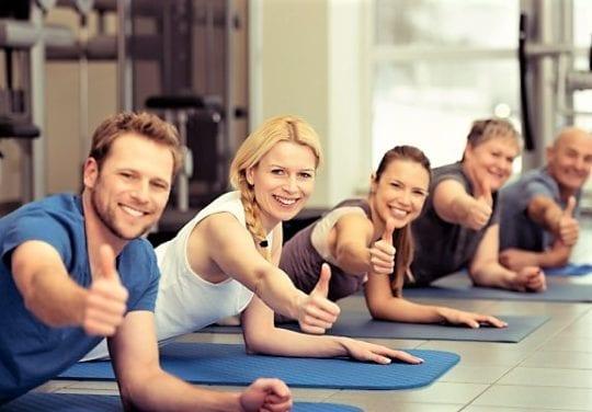 здоровые, активные люди