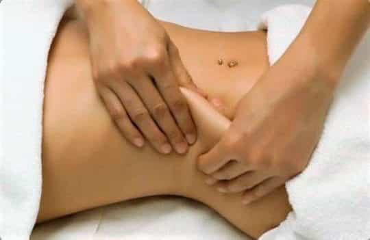 антицеллюлитный массаж живота
