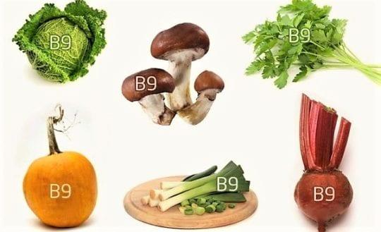 продукты где содержится фолиевая кислота