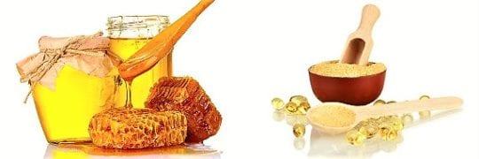 желатиновая маска с мёдом
