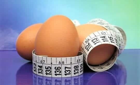 Яичная диета на 4 недели, подробное меню в виде таблицы